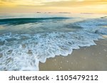 nature beach with sunset sky... | Shutterstock . vector #1105479212