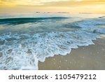 nature beach with sunset sky...   Shutterstock . vector #1105479212