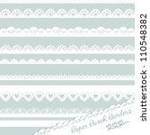 set of hand drawn lace paper... | Shutterstock .eps vector #110548382