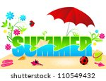 beautiful summer text... | Shutterstock . vector #110549432