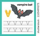 alphabet v exercise with...   Shutterstock .eps vector #1105499375