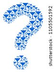 question mark shape composed of ... | Shutterstock .eps vector #1105501592