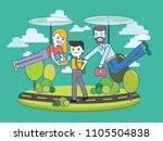 over parenting   over... | Shutterstock .eps vector #1105504838