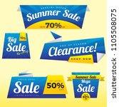 modern sale banner ribbon ... | Shutterstock .eps vector #1105508075