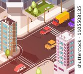 isometric concept with...   Shutterstock .eps vector #1105508135