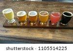 craft beer tasting flight   Shutterstock . vector #1105514225