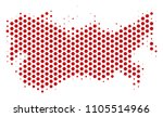 hex pixel ussr map. vector... | Shutterstock .eps vector #1105514966