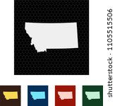 map of montana   Shutterstock .eps vector #1105515506