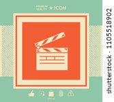 clapperboard icon symbol | Shutterstock .eps vector #1105518902