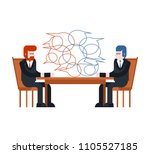 business negotiations. two... | Shutterstock .eps vector #1105527185