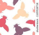 seamless vector pattern with... | Shutterstock .eps vector #1105528718