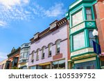 small town buildings in the... | Shutterstock . vector #1105539752