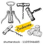 vector hand drawn sketch of... | Shutterstock .eps vector #1105546685