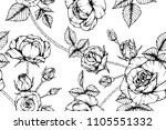 seamless flower pattern... | Shutterstock .eps vector #1105551332
