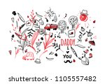 father's day vector. picture ...   Shutterstock .eps vector #1105557482