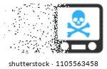 fractured xray screening dot...   Shutterstock .eps vector #1105563458