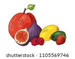 colorful vector illustration.... | Shutterstock .eps vector #1105569746