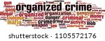organized crime word cloud... | Shutterstock .eps vector #1105572176