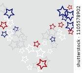 colorful stars confetti ... | Shutterstock .eps vector #1105578902