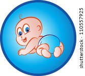 vector illustration  of a baby... | Shutterstock .eps vector #110557925