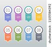 sticker label colorful set   Shutterstock .eps vector #1105584392