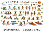collection of hiking trekking... | Shutterstock .eps vector #1105584752