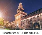 sforza castle  castello... | Shutterstock . vector #1105588118