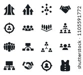 set of simple vector isolated... | Shutterstock .eps vector #1105591772