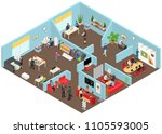 media creators agency interior... | Shutterstock .eps vector #1105593005