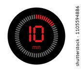 the 10 minutes  stopwatch... | Shutterstock .eps vector #1105594886