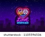 sports bar logo neon vector....   Shutterstock .eps vector #1105596536