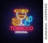tobacco shop logo vector.... | Shutterstock .eps vector #1105596542