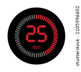 the 25 minutes  stopwatch... | Shutterstock .eps vector #1105596602