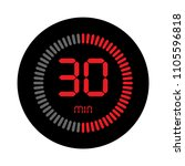 the 30 minutes  stopwatch... | Shutterstock .eps vector #1105596818