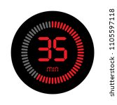 the 35 minutes  stopwatch... | Shutterstock .eps vector #1105597118