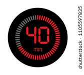 the 40 minutes  stopwatch... | Shutterstock .eps vector #1105597835