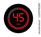 the 45 minutes  stopwatch... | Shutterstock .eps vector #1105598285