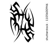 tribal tattoo vector designs... | Shutterstock .eps vector #1105600946