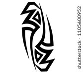 tribal tattoo vector designs... | Shutterstock .eps vector #1105600952