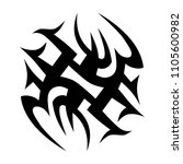 tribal tattoo vector designs... | Shutterstock .eps vector #1105600982