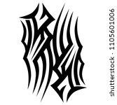 tribal tattoo vector designs... | Shutterstock .eps vector #1105601006