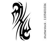 tribal tattoo vector designs... | Shutterstock .eps vector #1105601036