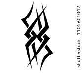 tribal tattoo vector designs... | Shutterstock .eps vector #1105601042