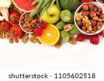 health food  fruit and vegetable | Shutterstock . vector #1105602518
