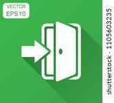 entrance door in flat style.... | Shutterstock .eps vector #1105603235