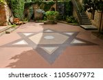 jewish quarter  girona  spain   Shutterstock . vector #1105607972