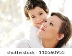 family portrait of mother and... | Shutterstock . vector #110560955