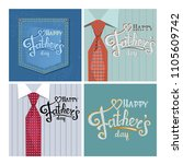 happy father's day   on a man's ... | Shutterstock .eps vector #1105609742