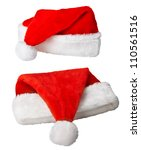 red christmas santa claus hats... | Shutterstock . vector #110561516