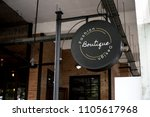 signage outside a restaurant... | Shutterstock . vector #1105617968